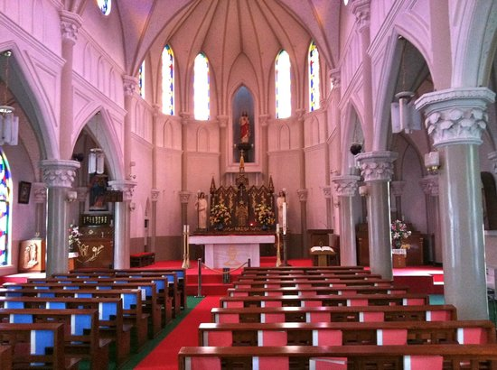 Sasebo, Japan: The inside of the Church