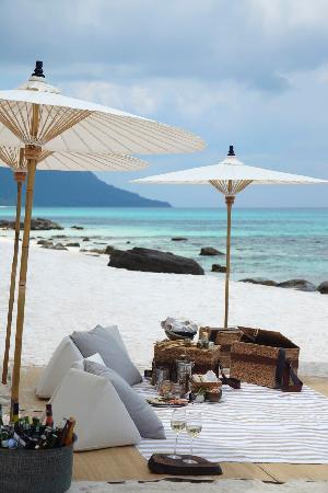 Song Saa Private Island: How about a picnic for two on the beach on the neighbouring Koh Rong island?