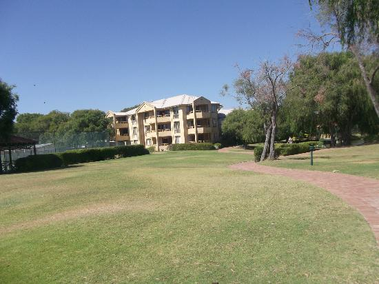 Abbey Beach Resort: from the beach looking at hotel