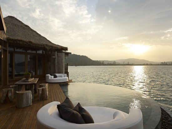 Song Saa Private Island: Sunset from our two bedroom Over-water Villa