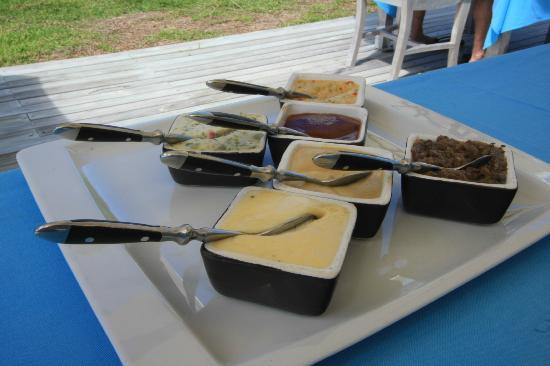 Restaurant du 20 Degres Sud : Sauce for the 20 deg Sud restaurant on Flat Island