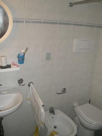 Hotel Venezia : Salle de bains au 3ème étage vraiment minuscule