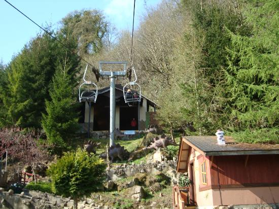 Matlock Bath, UK: The Chairlift at Gulliver's