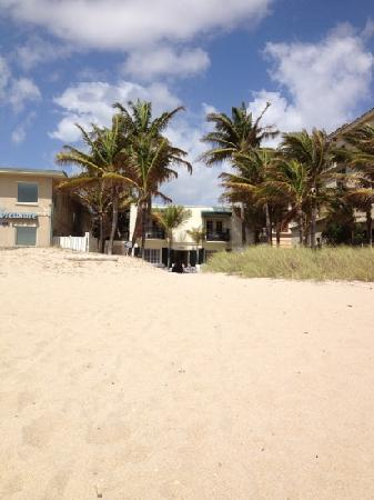 Courtyard Villa: view of villa from the beach