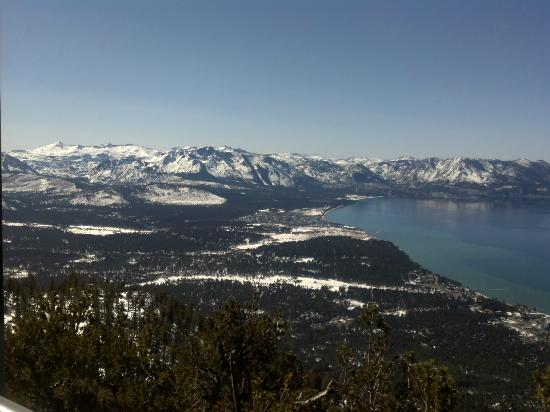South Lake Tahoe, CA: View from the platform 3/4 of the way to the top.