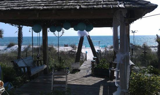 Wedding on the beach. Driftwood Inn, Mexico Beach, FL