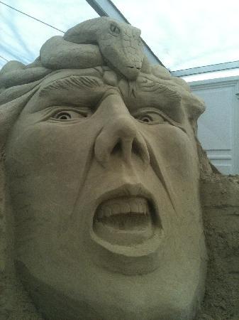 Weymouth, UK: Sandworld Sand Sculpture 2012 Medussa John Gowdy