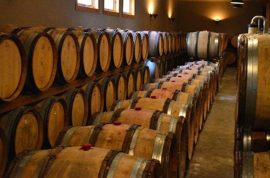 Wooldridge Creek Winery and Vineyard : Barrel room