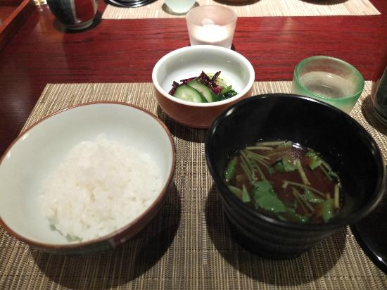 Taketoritei Maruyama: rice and soup