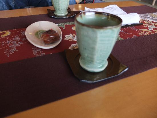 Taketoritei Maruyama: welcoming tea/sweet