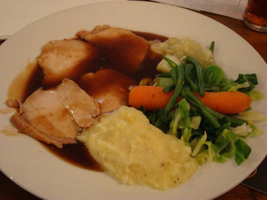 Crown and Anchor : pork loin as unappetising  as it looks