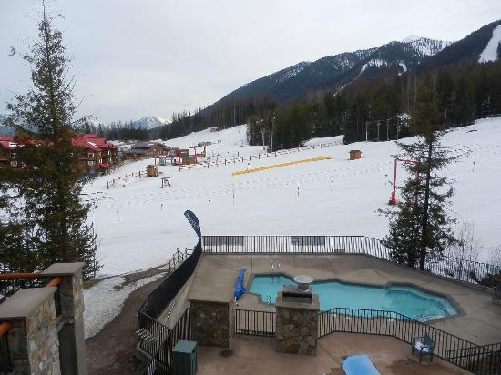 Snow Creek Lodge: View from our 2nd floor suite