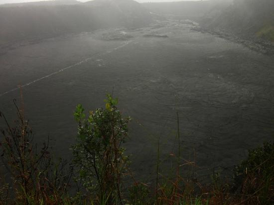 Kilauea Volcano Military Camp: Kilauea Iki Trail was 4 miles down, across and up the crater.