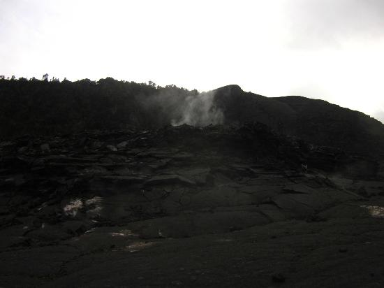 Kilauea Volcano Military Camp: Steam rising from Kilauea Iki Trail