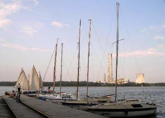 Rybnik Reservoir recreational area, marina