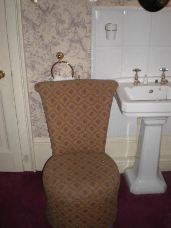 Bailbrook Lodge: towel rail behind chair