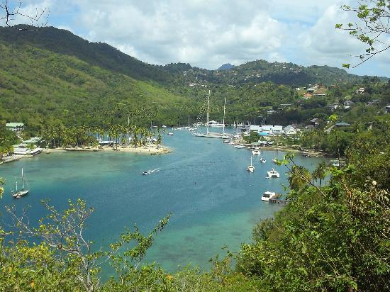 marigot bay, view from the Inn on the Bay