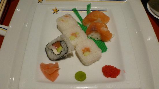 Iberostar Grand Hotel Bavaro : Sushi at the Japanese a la carte restaurant at the Iberostar Grand Bavaro