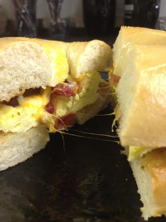 Watusi: New Breakfast bagel sandwich!