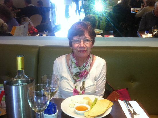 Carluccio's - Kingston: Mum enjoying the cheese plate