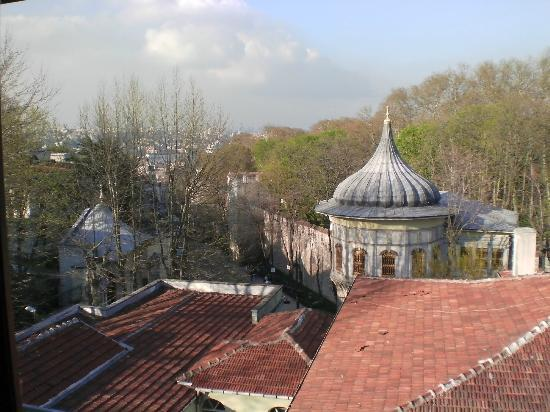 Le Safran Suite: This is the view from our attic room's window. You can see where the Bosphorus & Golden Horn mee