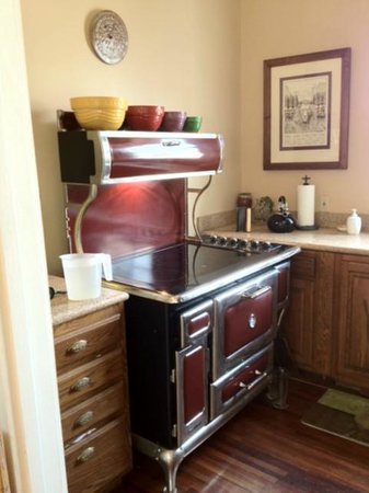 Elysian Fields Inn: Kitche: Leigh and Jim's amazing stove (they have a matching refrigerator too)