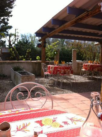 AUBERGE DU MAS D'ALIVON : la terrasse