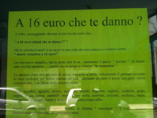 Anzio, Italy: il cartello