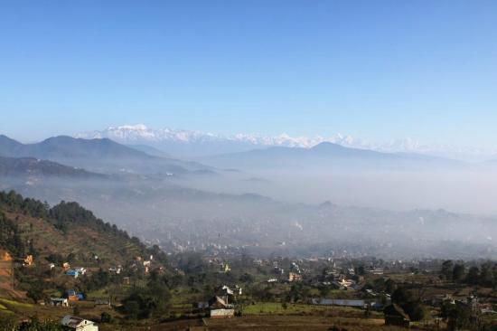 Sadhana Bhumi Himalaya For Life Research: view from the hill near the Center