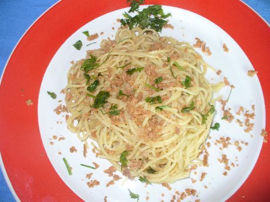 Ristorante Egesta Mare: Gli spaghetti con bottarga