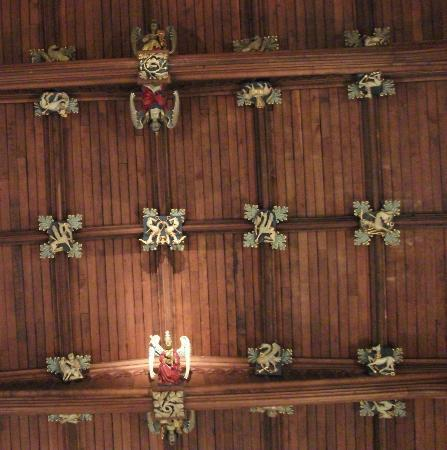 The Ceiling (reconstructed after the Coventry Blitz but the bosses are all original)