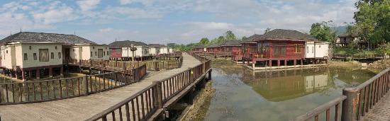 Aureum Palace Resort & Spa Inle : Panorámica zona oeste