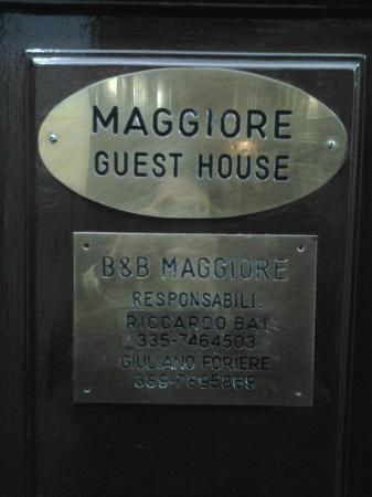 Bed & Breakfast Maggiore: Maggiore Guest House - entrance