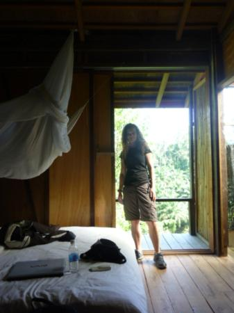 Paganakan Dii Tropical Retreat: The balcony of the ridge hut room
