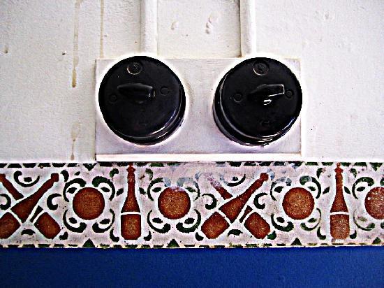 Luderitz, Namibia: old light switch