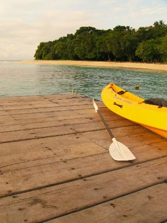 Bokissa Private Island Resort: Giving the kayak a rest