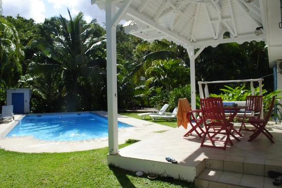 Gîtes Mangoplaya : espace piscine