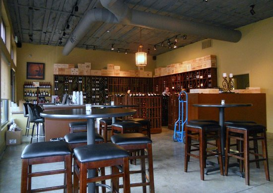 The Vine at Bridges : Bottle sales and wine tasting seating