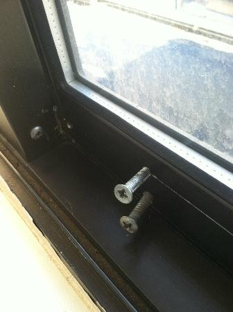 "The Inn at Longwood Medical: The ""fix"" to stop the window from opening all the way and pose a safety hazard"