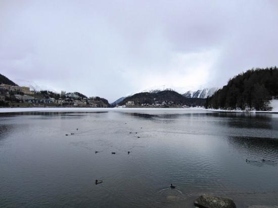 Hotel Schweizerhof: Lake (looking east)