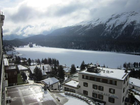 Hotel Schweizerhof: Lake St. Moritz (east end)