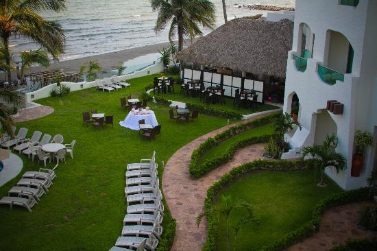 Boca del Rio, Mexico: Montaje en la palapa