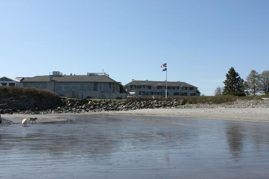 Stage Neck Inn: view of hotel from the beach