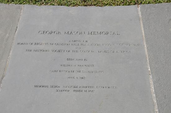 George Mason Memorial : Information
