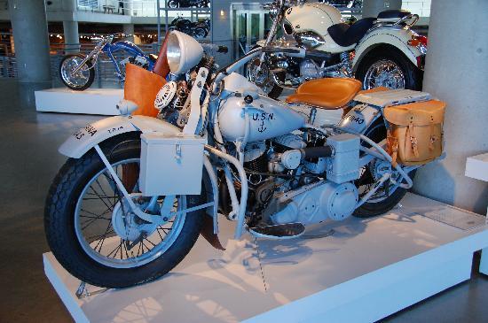 Not often seen WW II era Harley Davidson in a US Navy paint scheme