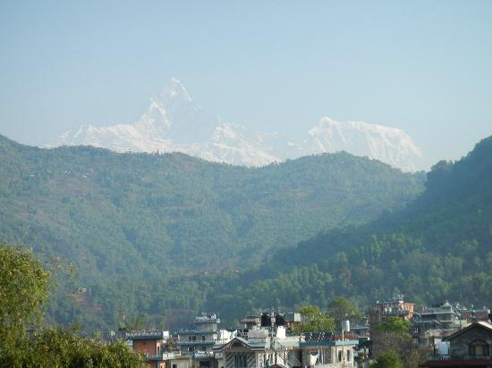 Hotel Diplomat: View of Fish Tail from the roof terrace - just one of the peaks visible on a clear day.
