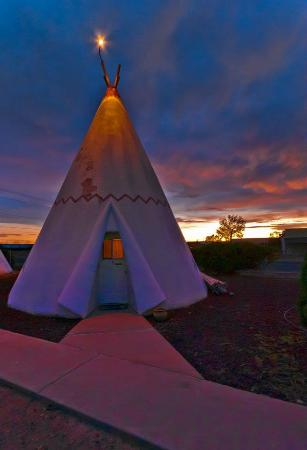 Wigwam Motel: Teepee #3, where we stayed.