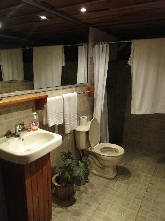 Poas Volcano Lodge: Baño de la habitación en el establo