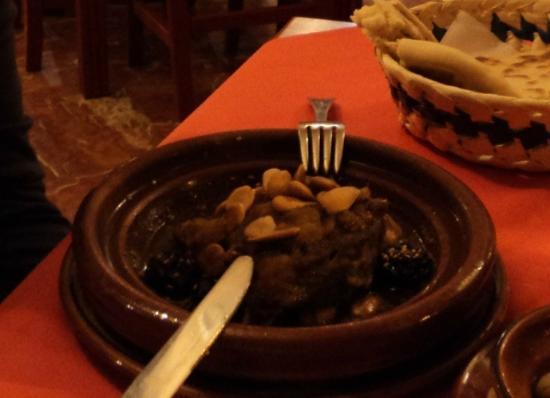 Restaurante Sultan: Tajin di agnello con prugne e frutta secca