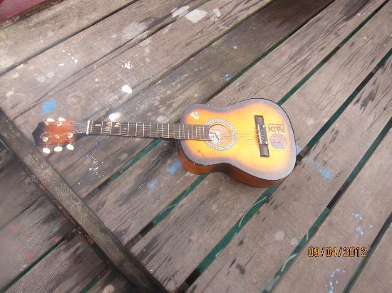 Arung Hayat Sea Adventures : Playing guitar